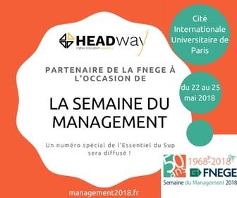 Partenariat HEADway - FNEGE à l'occasion de la Semaine du Management 2018